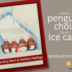 Penguin Week #2: Color a Penguin Choir by an Ice Cave