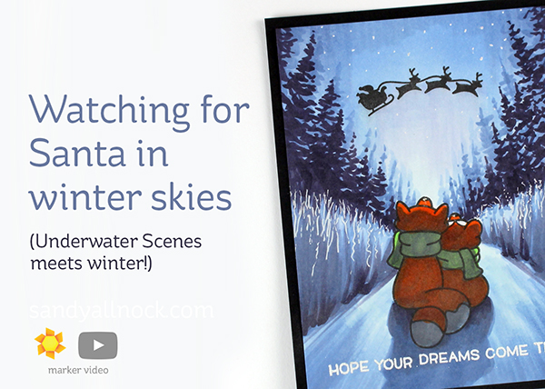 Watching for Santa in Winter Skies