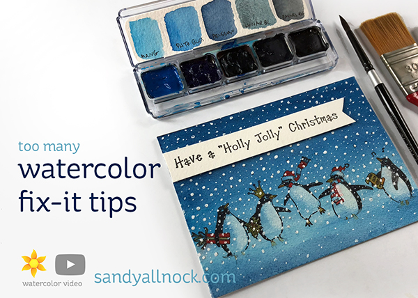 Penguin Week #6: [too many] watercolor fix it tips