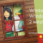 Winter Window: 2 ways! (with holiday shopper lady)