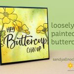 Loosely Painted Buttercups: Easy watercolor!
