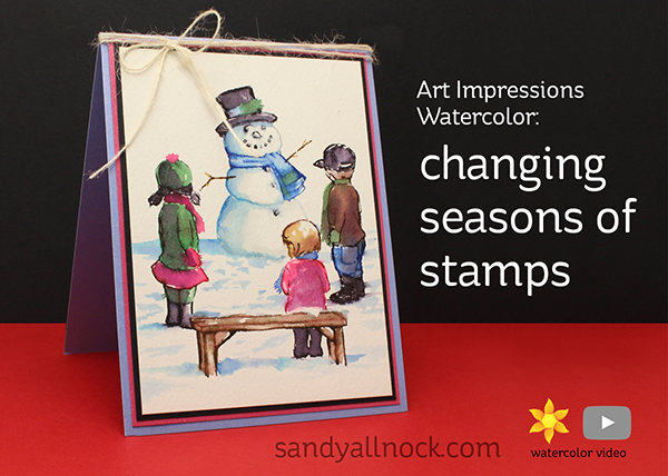 AI Watercolor: Changing seasons of stamps