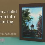 Turn a solid stamp into a painting
