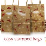 Easy Stamped Gift Bags + MFT guest post!