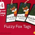 24 Tags of Christmas 2018: #3 Fuzzy Fox Tag