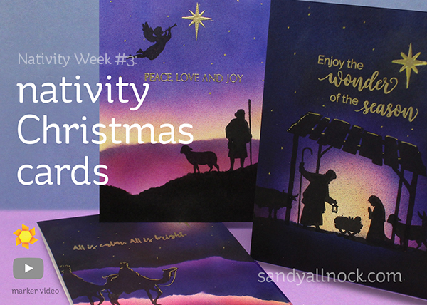Nativity Week #3: Copic Airbrush Christmas Cards