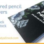 Winter Anemone – Colored pencil on black