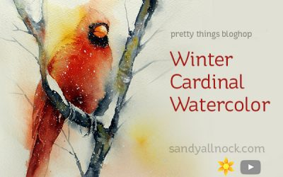 Pretty Things Bloghop: Winter Cardinal – with a story