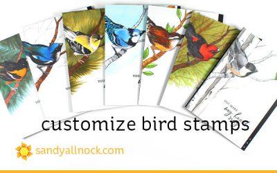 Customize Bird Stamps