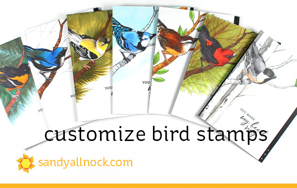 Customize Bird Stamps
