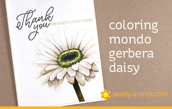 Mondo Gerbera Daisy in Copic