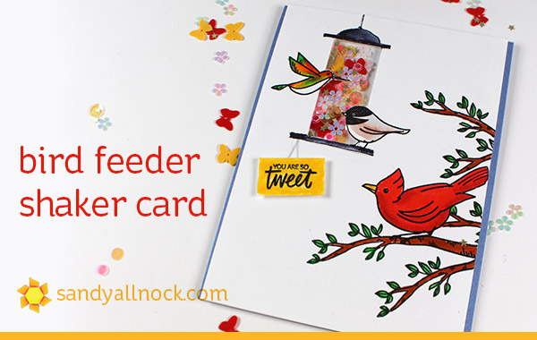 Bird Feeder Shaker Card (new release from Ellen Hutson)