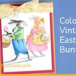 Color Vintage Easter Bunnies