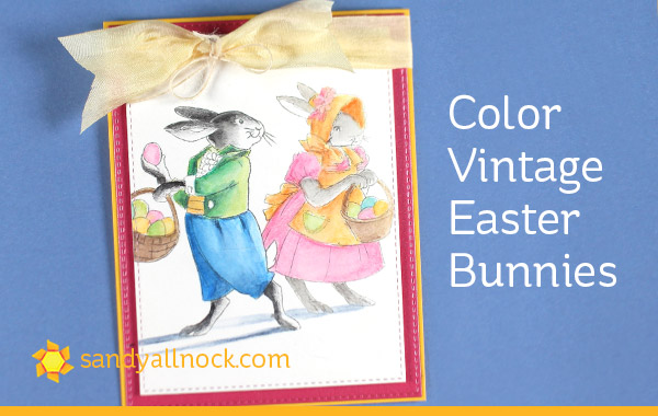 Color Vintage Easter Bunnies