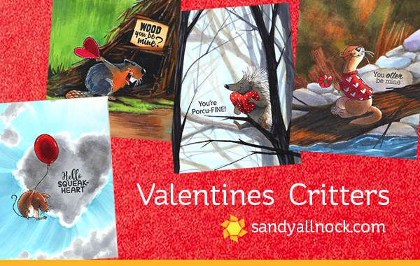 Valentine Critters (with flash giveaway)