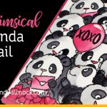 Whimsical Panda Mail