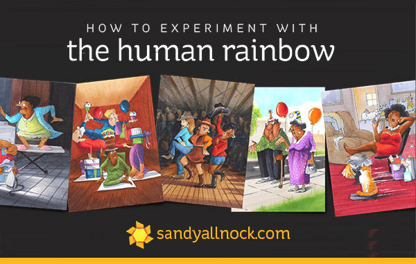 How to experiment with the human rainbow