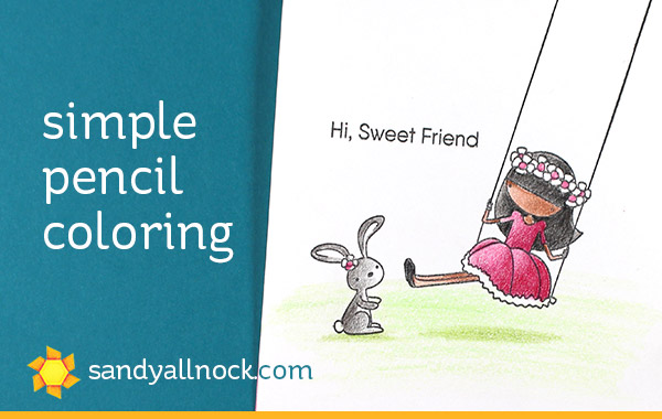 Two Swing Sets: Simple Pencil Coloring