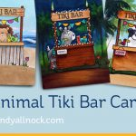 Animal Tiki bar cards