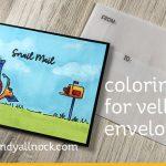 Coloring for Vellum Envelopes