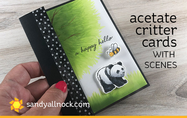 Acetate Critter Cards – with scenes (Hero Arts bloghop!)
