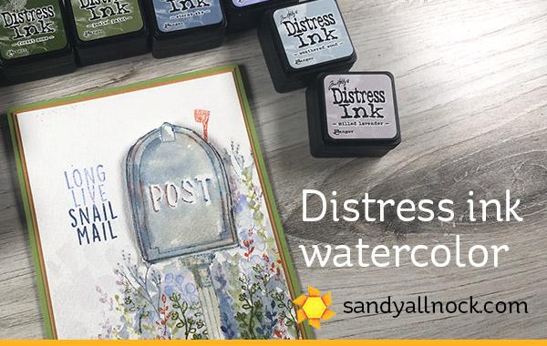 Distress Ink Watercolor – Interactive Mailbox Card