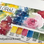 Watercolor practice – Daniel Smith Floral Half-Pan Set