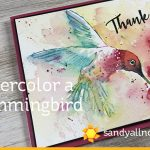 Watercolor a Hummingbird – with a dot card