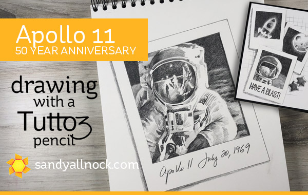 Apollo 11 – 50th Anniversary Sketch. And a pencil.
