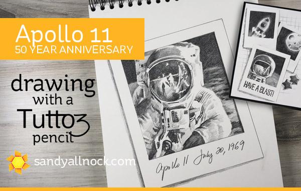 Apollo 11 – 50th Anniversary Sketch. And a pencil.