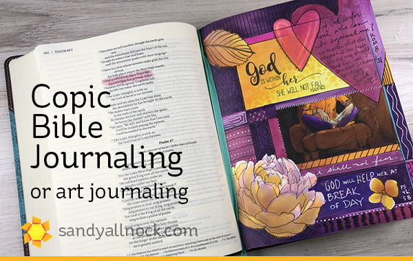 Copic Bible Journaling (and a giveaway)
