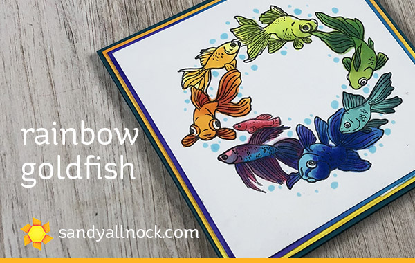 Rainbow Goldfish – and a Bloghop!