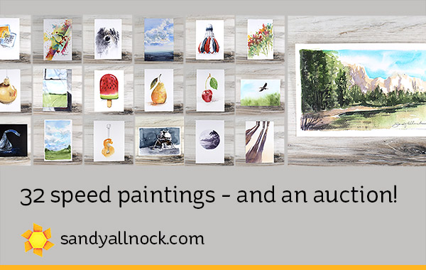 32 speed paintings – and a charity auction