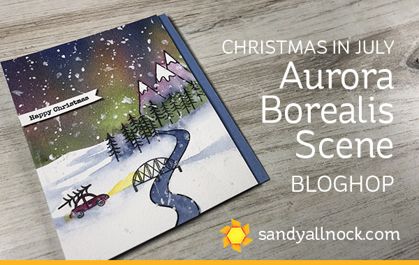 Christmas in July Hop: Aurora Borealis Scene