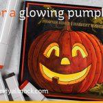 Color a Glowing Pumpkin