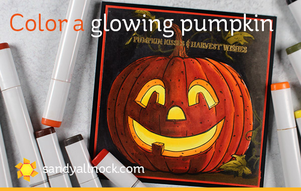 Color a Glowing Pumpkin