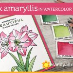 Pink Amaryllis – in Watercolor Pencils (and a sale!)