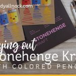 Trying out Stonehenge Kraft (Back to school card)