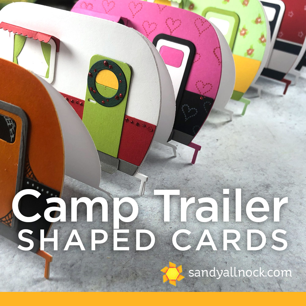 Camp Trailer Shaped Cards
