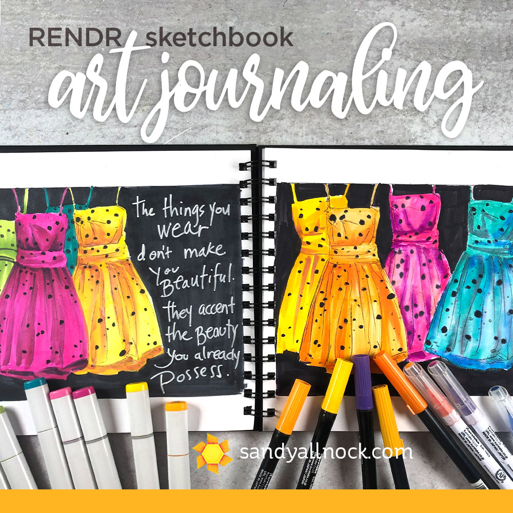 Art Journaling – RENDR sketchbook