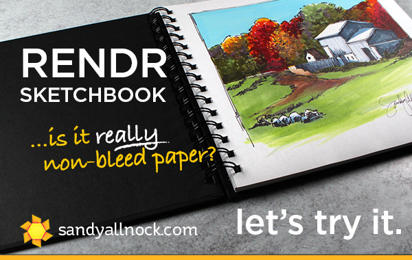 Rendr Sketchbook: Will it bleed through?