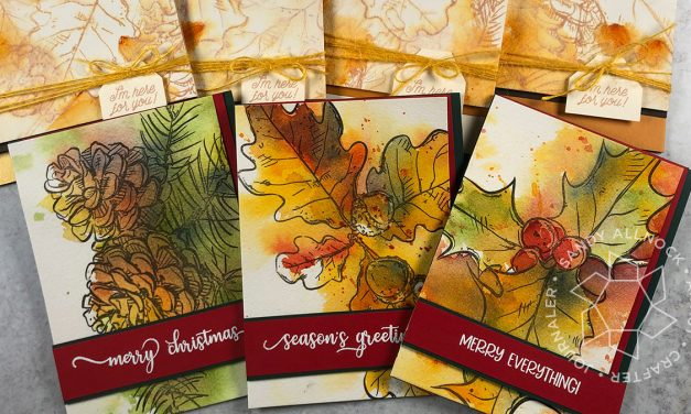 Easy Breezy Watercolor Cards – fall and Christmas
