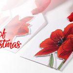 24 Tags of Christmas 2019: Copic Amaryllis