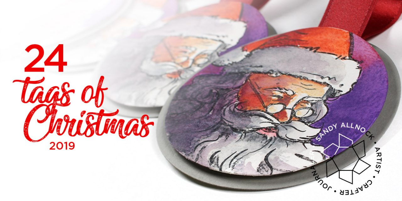 24 Tags of Christmas 2019: Santa's Face