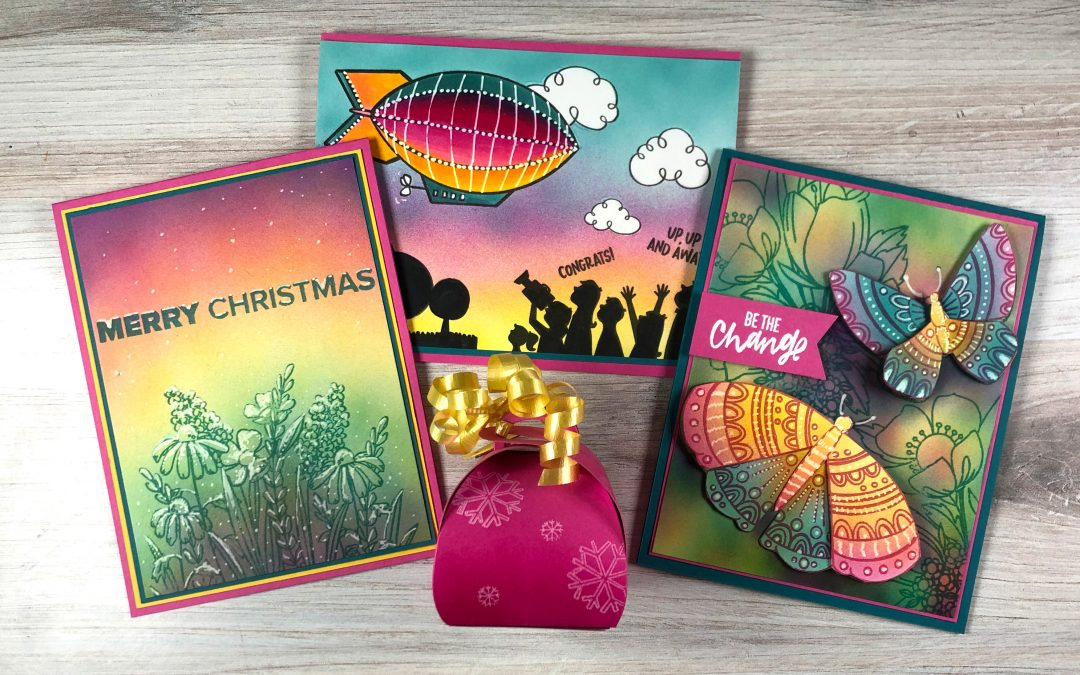 Alternate Primaries: Pink, Yellow, Teal (Ellen Hutson release bloghop)
