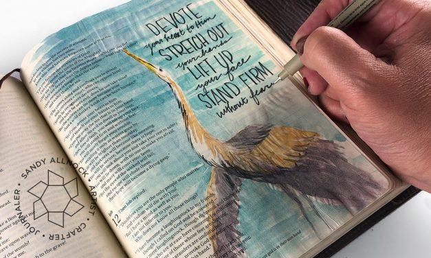 Flip-through my Bible journaling art
