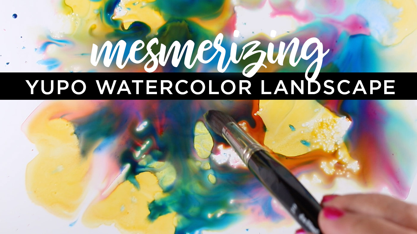 6 tips: Mesmerizing Yupo Watercolor Landscape