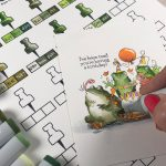 Choosing Copic Greens (Coloring frogs and a free chart)