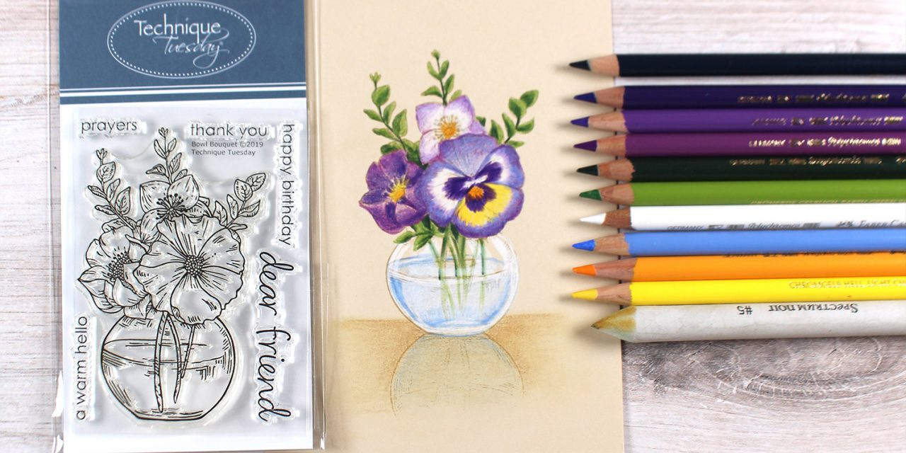 Colored Pencil Bouquet Card