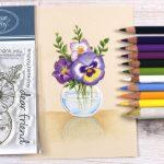 Colored Pencil Bouquet Card